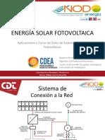 Presentación Energía Solar Fotovoltaica Aplicaciones Casos de Éxito