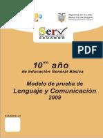 Preguntas básicas sobre lenguaje para décimo año de educación básica.doc