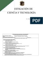 BGU Investigación de la Ciencia y la Tecnología 3ro.doc