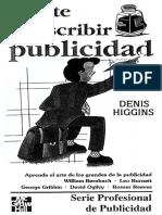 Denis Higgins-El Arte de Escribir Publicidad-McGraw-Hill