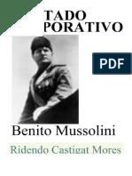 O Estado Corporativo - Benito Mussolini