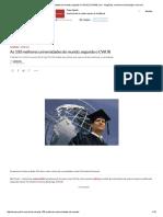 As 100 Melhores Universidades Do Mundo, Segundo o CWUR _ EXAME
