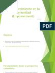 El Fortalecimiento en La Comunidad Empowerment