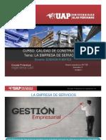 Sesion 03 Calidad de La Contruccion -Tema La Empresa de Servicios II
