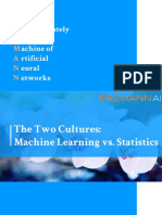 Two Cultures- Statistics vs. Machine Learning
