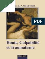 Albert Ciccone Alain Ferrant Honte Culpabilite Et Traumatisme (1)