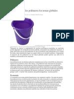 Cómo Afectan Los Polímeros Los Temas Globales