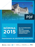 Nomina de Autoridades Universidades 2015
