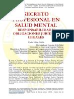 Secreto Profesional en Salud Mental