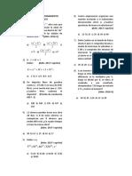 II Miscelánia de Razonamiento Matemático