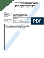 NBR ISO TR 10013-2002 Diretrizes Doc de SGQ