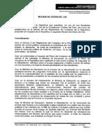 MOCIÓN DE CENSURA A MINISTRA DE EDUCACIÓN