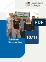 Harrogate College Full-time prospectus