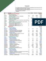 Presupuesto Riego Paccaypata