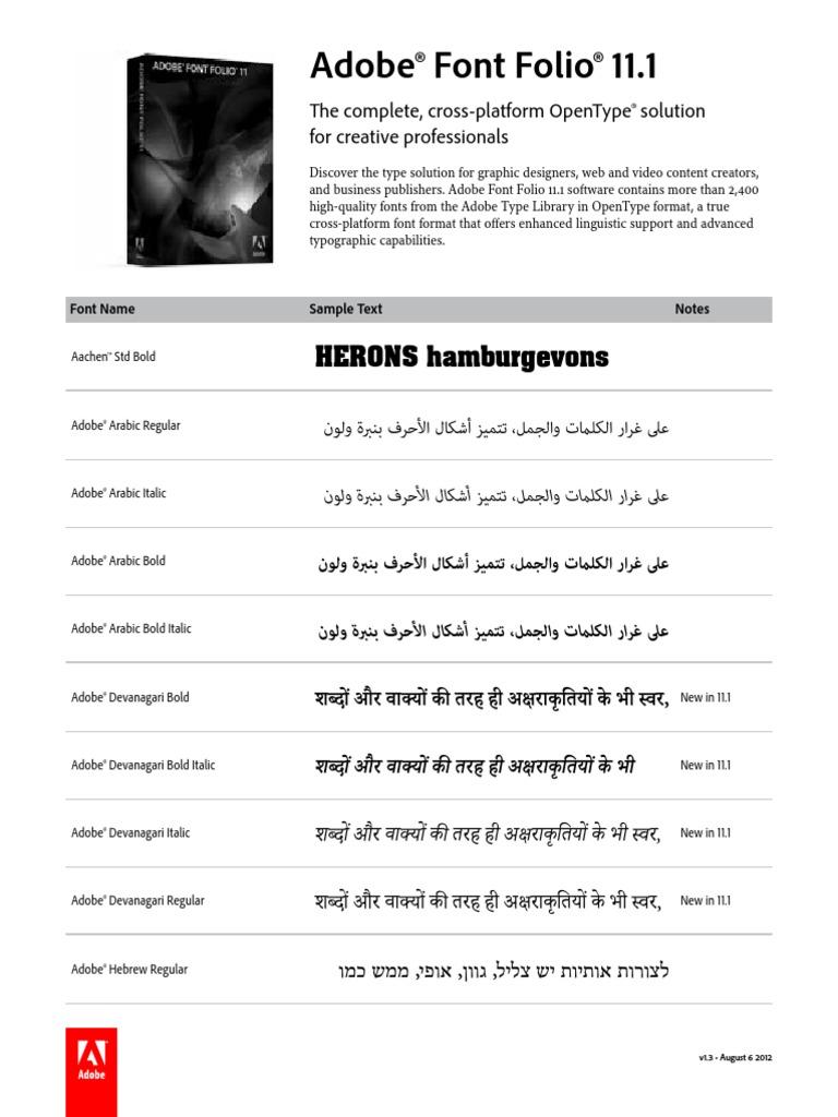 Fontfolio11 1 Font List