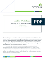 Plants in Green Buildings