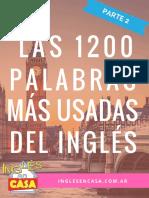 Las 1200 Palabras Mas Usadas Del Ingles PARTE2