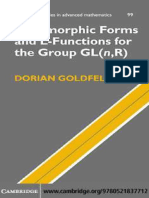 Autopomorphic Forms and L Functions for the Group GL n R D. Goldfeld Cambridge 2006 WW Copy