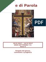 Sete di Parola - XXIII settimana T.O. - Anno A (bis).doc