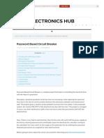 Password Based Circuit Breaker