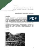 Castaño J. y Kandel v. - El Surgimiento de La Declaración Universal de Los Derechos Humanos Contexto Histórico y