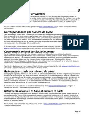 CUMMINS CROSS REFERENCE pdf