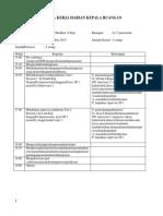 Rencana Kerja Harian Kepala Ruangan Marina