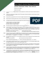 Mechanical Properties of Matter IITJEE