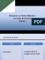 Analyser Un Texte Littéraire