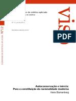 Blumenberg Autoconservación e Inercia Portugués