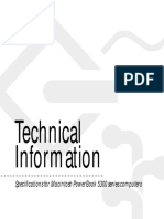 Macintosh Powerbook 5300 Technical Specs