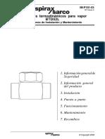 Trampa Termodinámica Para Vapor BTD52L-Instrucciones de Instalación y Mantenimiento