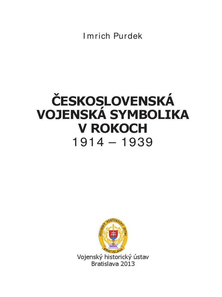 35a00f159161 ČESKOSLOVENSKÁ Vojenska Symbolika 1914-39
