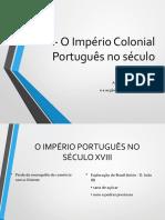 Império olonial Português Séc. XVIII
