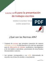 Normas Apa Presentacion