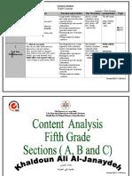 تحليل-محتوى-لغة-انجليزية-للصف-الخامس-الفصل-الدراسي-الأول-2014.doc