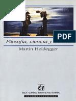 HEIDEGGER Filosofia Ciencia y Tecnica