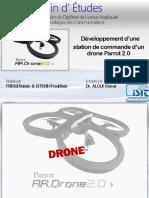 developpement d'une station de commande d'un drone parrot 2.0