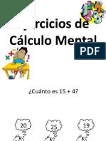 Ejercicios Calculo Mental