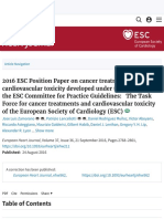 2016 ESC Position Paper on Cancer Treatments and Cardiovascular Toxicity Developed Under the Auspice
