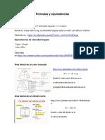 Formulas y Equivalencias