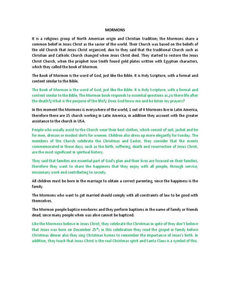 Mormones | The Church Of Jesus Christ Of Latter Day Saints | Baptism