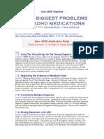 0 Biggest Problems ADHD Meds