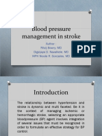 Blood pressure management in stroke Journal reading.pptx