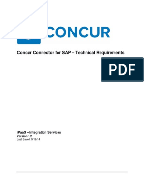 Concur Connector for SAP_Tech Requirements_v1 2 | Server (Computing