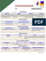 Material Safety Data Sheet (Hydrazine)