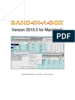 Band-In-A-Box 2010_5 Mac Upgrade Manual