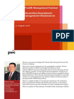 AWM Seminar- Private Securities Investment Fund Management in China - Aug 16 PWC