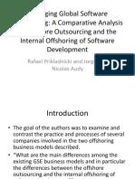 Managing Global Software Engineering