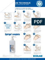 Surgical Handrub Technique Poster